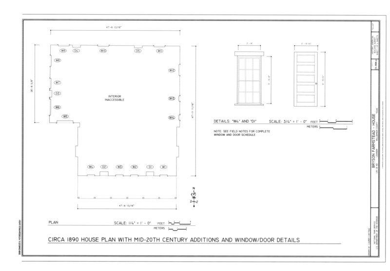 File circa 1890 house plan with mid 20th century additions for 1890 house plans