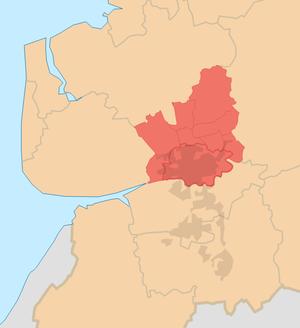 Districts of Preston - Image: City of Preston (local government district) locator map
