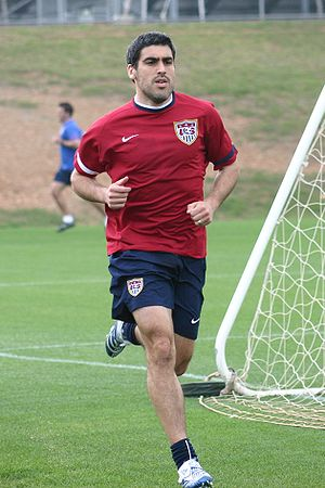 United States men's national soccer team - Claudio Reyna during practice.