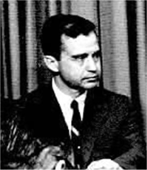 H. Clay Myers Jr. - Clay Myers at 1968 news conference.