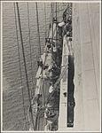 Cleaning the granite pylons on the Sydney Harbour Bridge, 1932 (8283772778).jpg