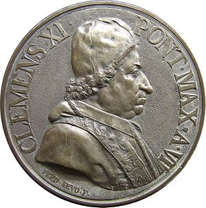 Pope Clement XI - Medal depicting Clement XI