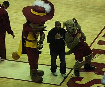 Current mascots Sir C.C. (left) and Moondog (right) 45971ea02