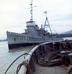 Beach Jumpers - USS Cocopa in Vietnamese waters in 1967.