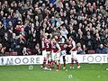 Cole goal celebration, Everton at The Boleyn Ground 2012.jpg