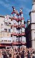 Colla Vella dels Xiquets de Valls - Primer 9de8 descarregat de la història - Diada del Mercadal 2001 (tallat).jpg