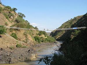 Bridges to Prosperity - New Blue Nile River suspended bridge completed in 2009 serves over 10,000 rural Ethiopians.