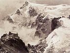 Der Ortler und die Payerhütte. Aquarell von Edward Theodore Compton