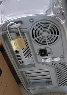 Computer security The protection of computer systems from theft or damage