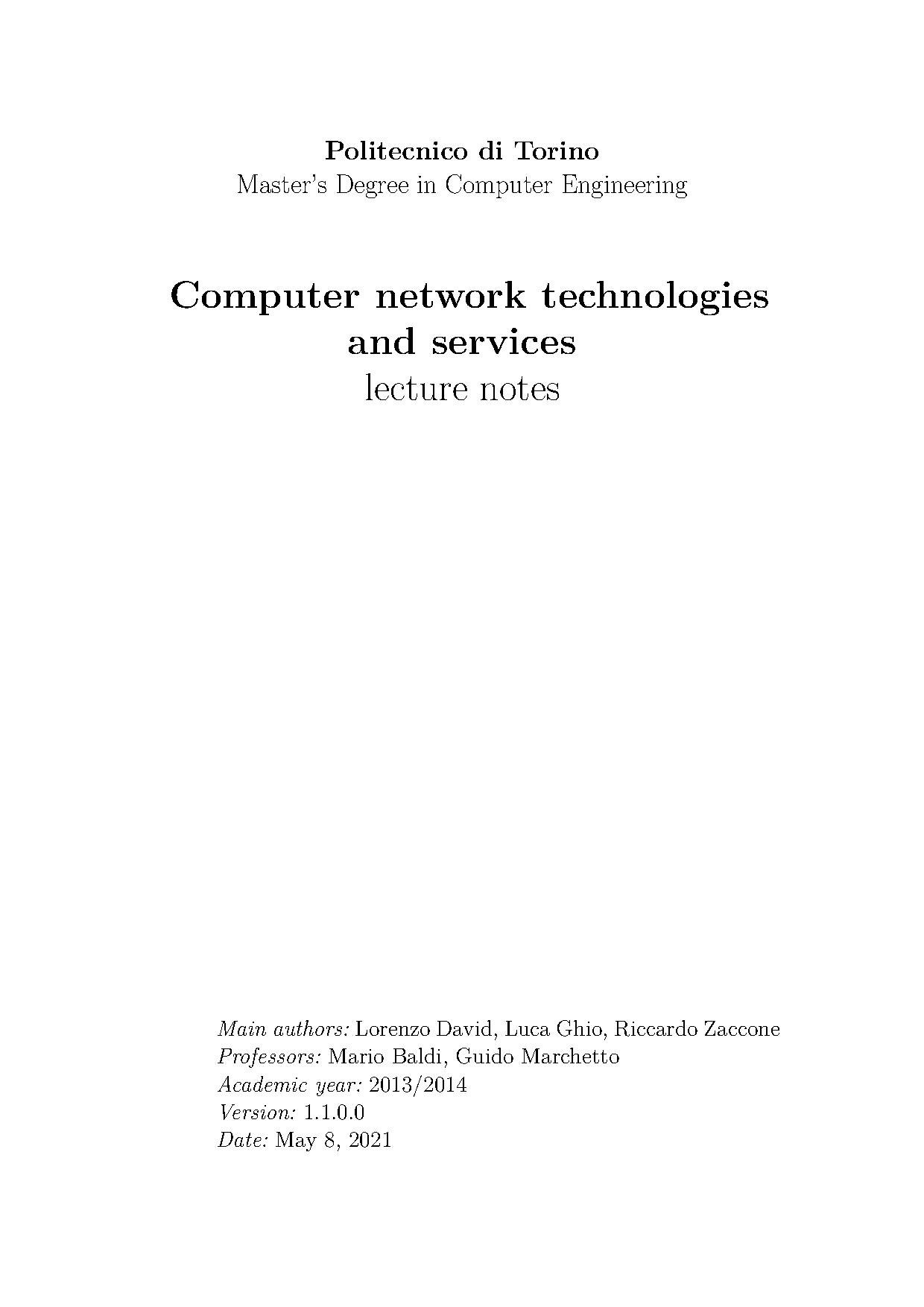 File Computer Network Technologies And Services Lecture Notes Pdf