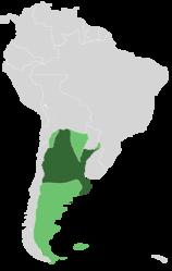 Ubicación de Argentina