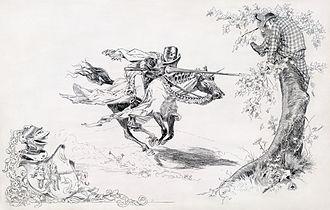 Daniel Carter Beard - Beard's frontispiece for Twain's A Connecticut Yankee in King Arthur's Court.