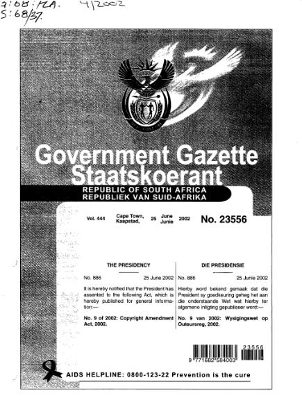 File:Copyright Amendment Act 2002 from Government Gazette.djvu
