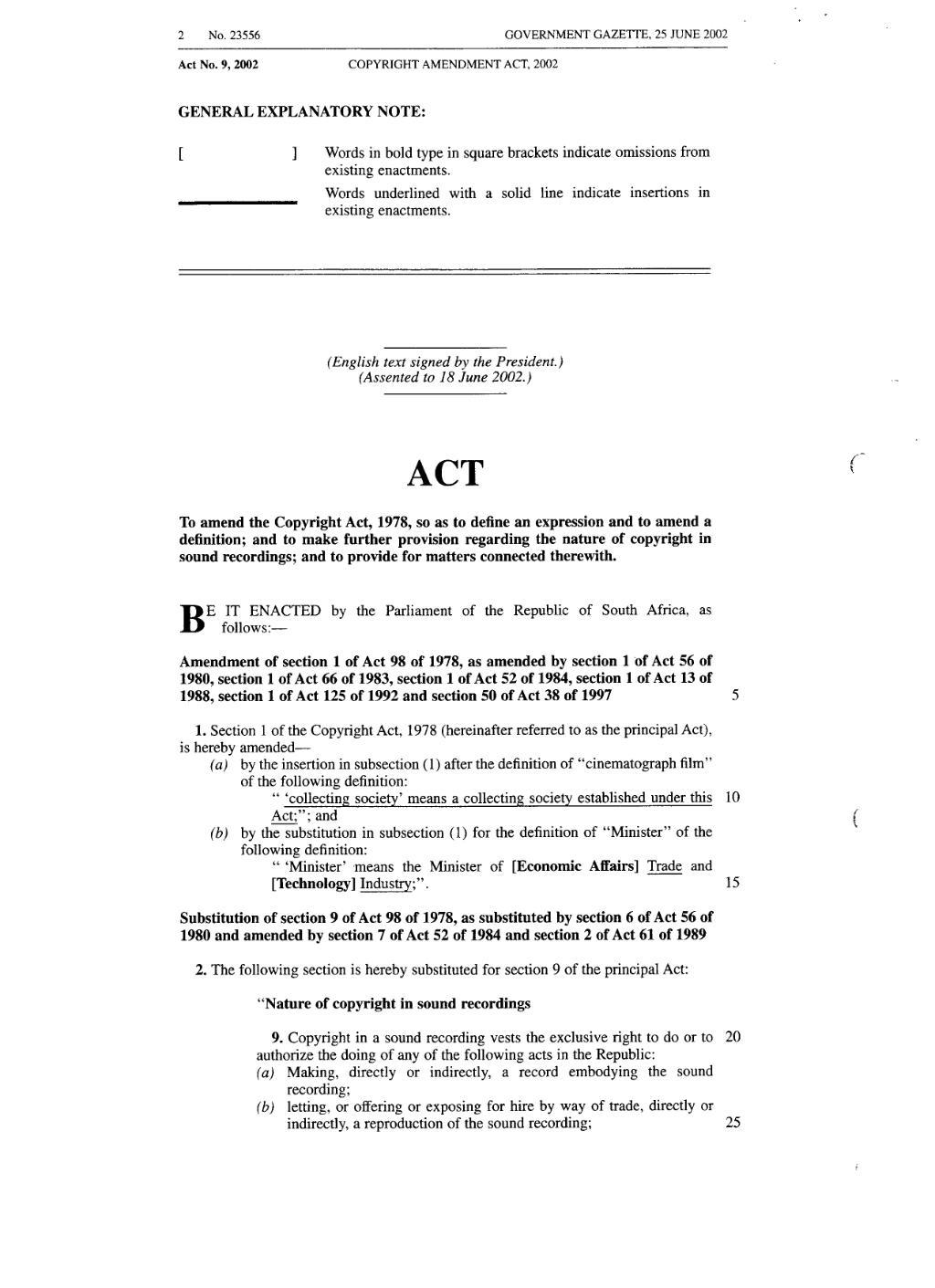 page:copyright amendment act 2002 from government gazette.djvu/2