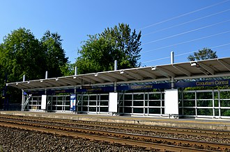 Coquitlam Central station - West Coast Express station platform