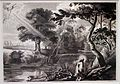 Cornelis galle da rubens, francesco riceve le stigmate in un paesaggio olandese, 1650-1700 ca. (roma, museo francescano).JPG