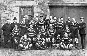 Rugby union in Cornwall - The Cornwall RFU team that won the county championship, 1907-08.
