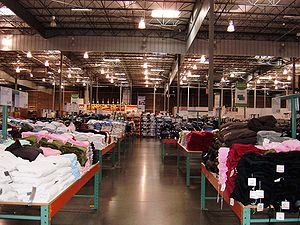 Interior of a Costco Wholesale warehouse in So...