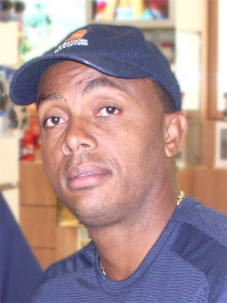 Frank Worrell Trophy - Courtney Walsh is the tournament's leading wicket-taker.
