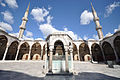 Courtyard - The Sultan Ahmed Mosque (Blue Mosque) with people digitally removed (8459612400).jpg
