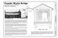 Cover Sheet - Powder Works Bridge, Spanning San Lorenzo River, Keystone Way, Paradise Park, Santa Cruz, Santa Cruz County, CA HAER CA-313 (sheet 1 of 9).png