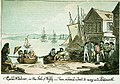 Cowes Harbour, in the Isle of Wight - here we hired a boat to carry us to Portsmouth (caricature) RMG PW4956.jpg