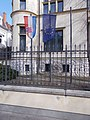 Croatian Embassy, flags, 2020 Terézváros.jpg