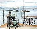 Croquis- Olhão, retour de pêche - Portugal (7590620638).jpg