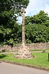 Crowcombe village cross 170 m north west of Holy Ghost Church