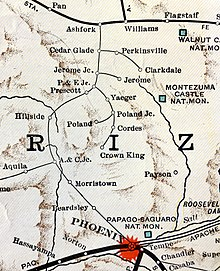 Map Of Crown King Arizona.Bradshaw Mountain Railroad Wikipedia