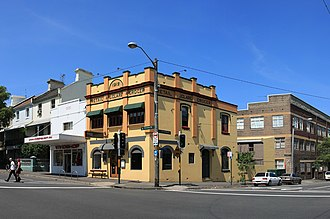 Surry Hills, New South Wales - Heritage building, corner of Crown and Devonshire Streets