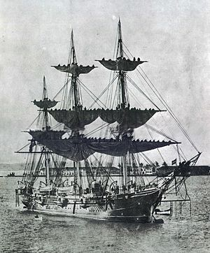 Brazilian Navy - Cruiser Almirante Barroso, 1880.