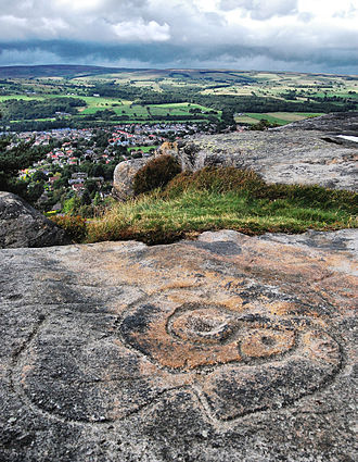 Ilkley - Bronze Age markings at Hangingstone Quarry, above Ilkley