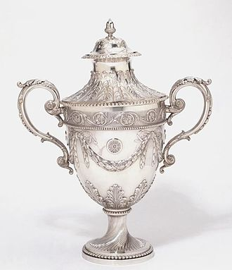 Louisa Courtauld - Image: Cup and cover, made by Louisa Courtauld and George Cowles (1771 72)
