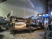 Curtiss Museum P40 Warhawk restoration.JPG