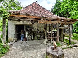 The former village smithy; Today, the open-air museum Neuhausen ob Eck