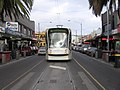 D2 5006 (Melbourne tram) at Acland St, St Kilda terminus on route 96, May 2005.jpg