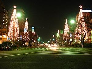 Daigaku avenue in Kunitachi, Tokyo, Japan.