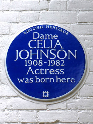 Celia Johnson - Blue Plaque for Dame Celia Johnson