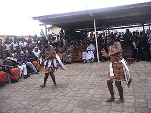 Dance performance in Ghana.
