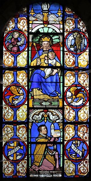 Dancevoir (Haute-Marne department, France): Saint Peter in chains church - stained glass window