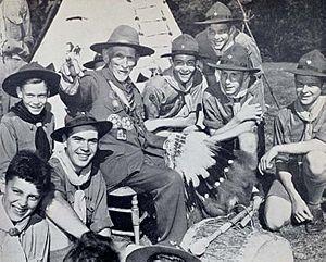 Daniel Carter Beard - Daniel Beard in later life, with Boy Scouts