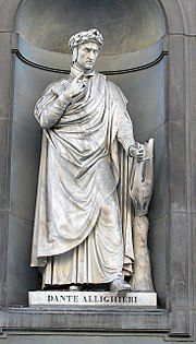 Statue of Dante at the Uffizi, Florence.