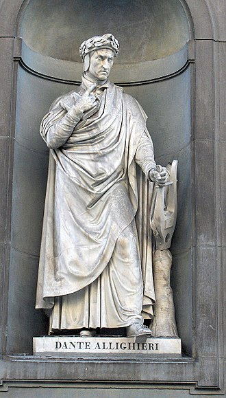 Dante Alighieri - Statue of Dante at the Uffizi, Florence