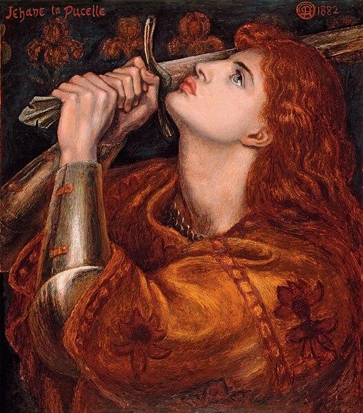 Fichier:Dante Gabriel Rossetti - Joan of Arc (1882).jpg