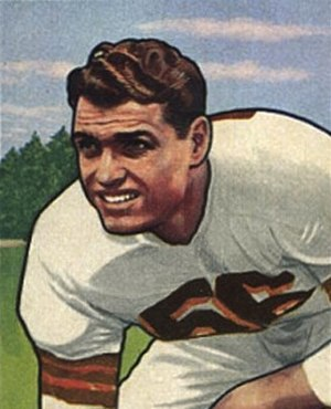 Dante Lavelli - Dante Lavelli on a 1950 football card