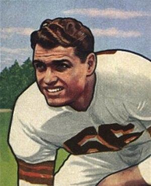 Dante Lavelli - Dante Lavelli on a 1950 football card