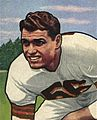 Dante Lavelli, American football end, on a 1950 football card.jpg