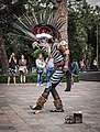 Danza del Fuego performance outside Museo Nacional de Antropología, Chapultepec, CDMX 02.jpg