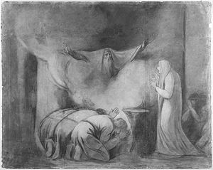 Atossa - The ghost of Darius appears to Atossa in a scene from The Persians.
